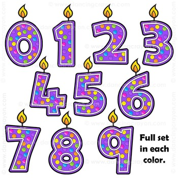 Clip Art Birthday Candles | Number Candles Clipart