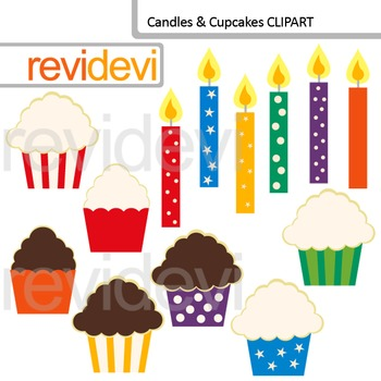 Candles and Cupcakes Clip art