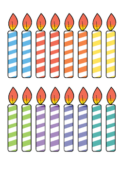 Candles for Birthday Cupcake Posters