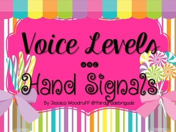 Candlyland Themed Hand Signals and Voice Levels