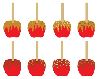 Candy And Caramel Apples Clipart Candy Caramel Apples Set 173