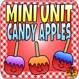 Candy Apple Centers Math Literacy Sequencing Kindergarten Preschool SPED