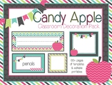 Candy Apple Classroom Decoration Pack (Pink, Turquoise, Li