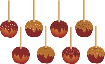 Candy Apple Clip Art Apple Clipart Fall Clip Art Caramel Apple Clipart