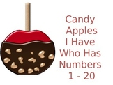 Candy Apple I Have Who Has Numbers to Twenty