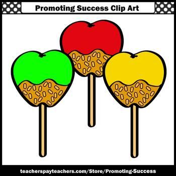Candy Apples Clip Art, Apple Clipart, Apple Unit, Fall Clipart, Health Class SPS