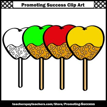 Candy Apple Clip Art, Commercial Use SPS