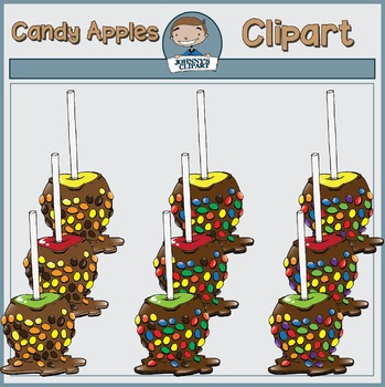 Candy Apples Clipart