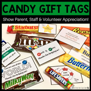 Teacher Appreciation Gift Tags for Candy