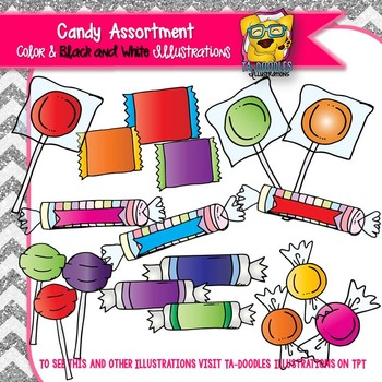 Candy Assortment Commercial Use Clipart