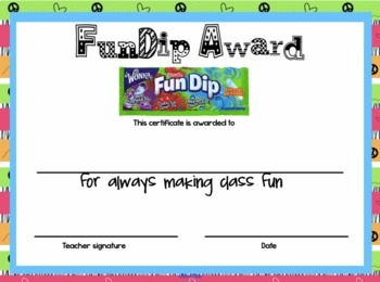 Candy Award Certificates End of the Year - Editable and ...
