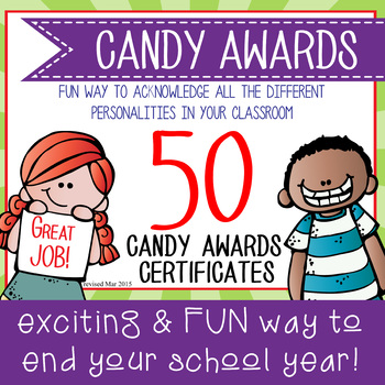 Candy Award Certificates - Editable Ms Word And Pdf By Artrageous Fun