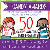 Candy Award Certificates - editable MS Word and PDF