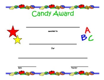 Candy Awards - End of the Year