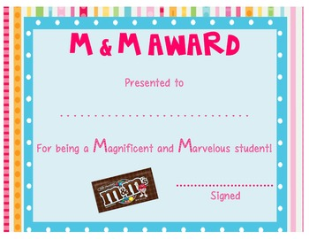 Candy Awards: End of the Year Certificates