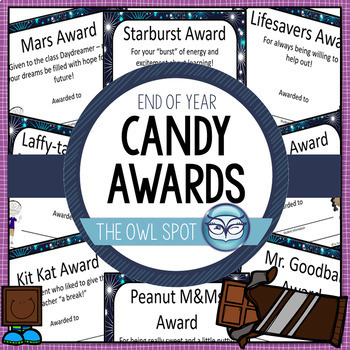 Candy Awards - End of the Year Classroom Awards