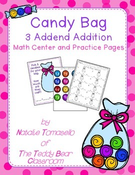 Candy Bag 3 Addend Addition Center