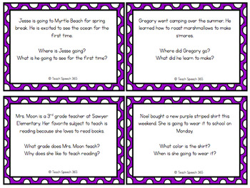 Candy Bag Listening Comprehension (1, 2, 3 sentence ...