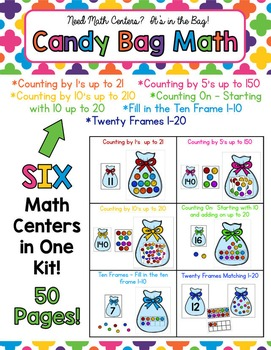 Candy Bag Math - 6 Differentiated Math Center Activities -