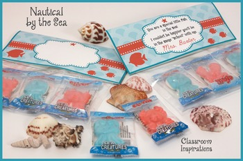 Candy Bag Topper - Coordinates with Nautical by the Sea Classroom Theme