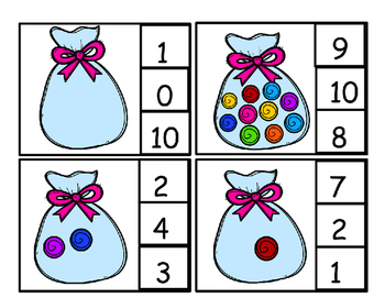 Candy Bags Clip Counting