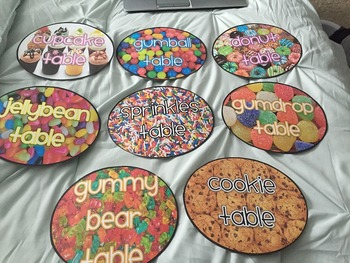 Candy/Baked Goods Table Signs