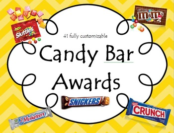 Candy Bar Award Certificates