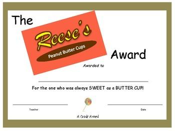 Candy Bar Award - Reese's Peanut Butter Cup
