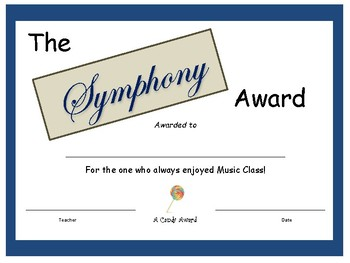 Candy Bar Award - Symphony