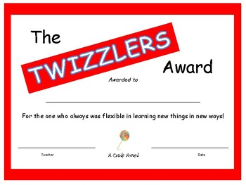 Candy Bar Award - Twizzlers