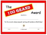Candy Bar Award - 100 Grand