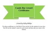 Candy Bar Awards Certificates
