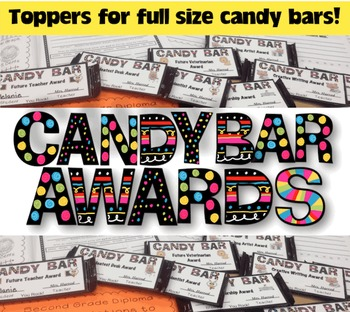 Candy Bar Awards for End of Year {78 Editable Bar Toppers