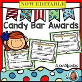 CANDY BAR Awards for End of the Year - Editable