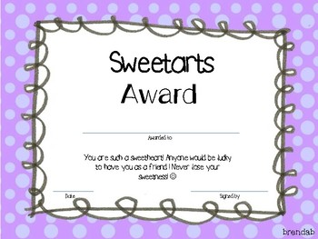 Candy Bar Awards for the end of the year
