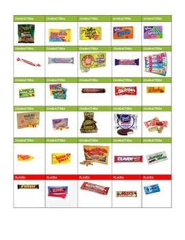 ELA standards w/ HALLOWEEN CANDY BARS!!!!!!
