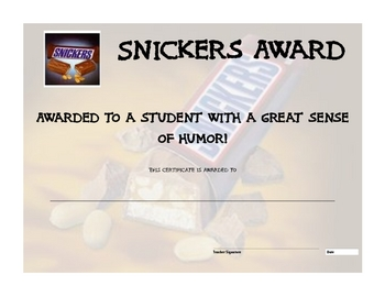 Candy Bar End of the Year Awards