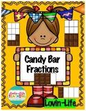 Candy Bar Fractions-FUN! Activity and Interactive, NO PREP