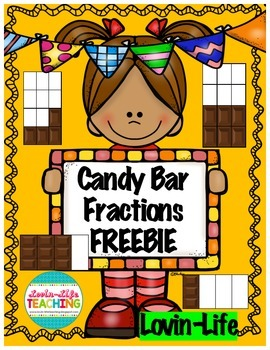 Candy Bar Fractions Printable- Comparing Fractions- FREEBI