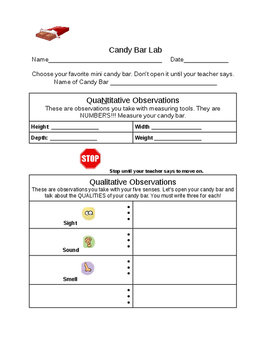 Candy Bar Observations Lab