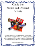 Candy Bar Supply and Demand Activity