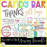 Candy Bar Thank You GIFT TAGS