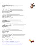 Candy Bar Trivia Worksheet