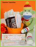 Candy Bar Wrapper – Editable – Coordinates with Sock Monkey Classroom Theme