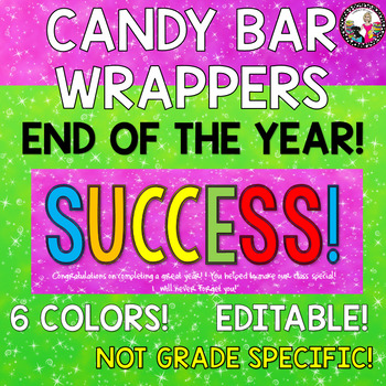 Candy Bar Wrapper!  End of the Year!