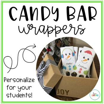 Candy Bar Wrappers: Editable