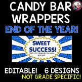 Candy Bar Wrappers End of the Year