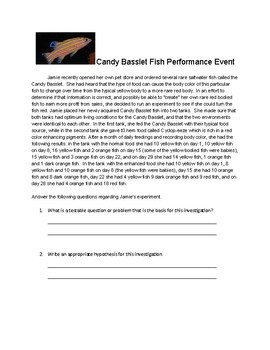 Candy Basslet Fish Practice Performance Event