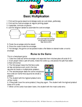Candy Battle Greatest Product Multiplication Game (Spanish Version)