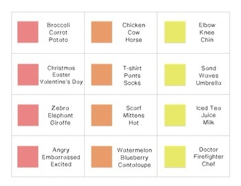 Candy Board Game Categories